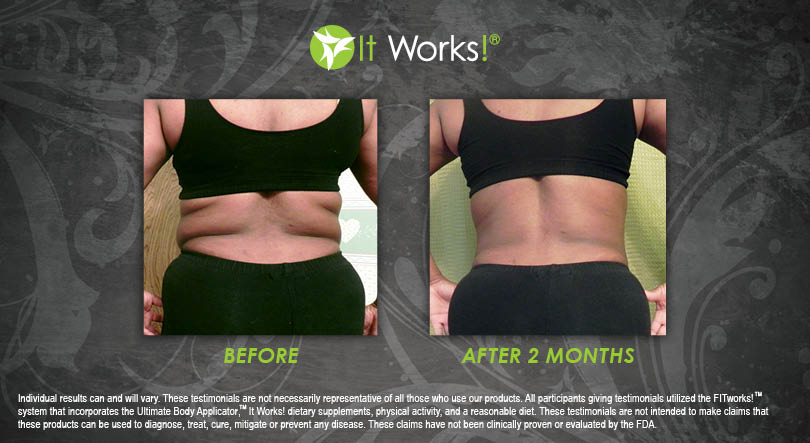 it works body applicator wraps Reduce Back Fat