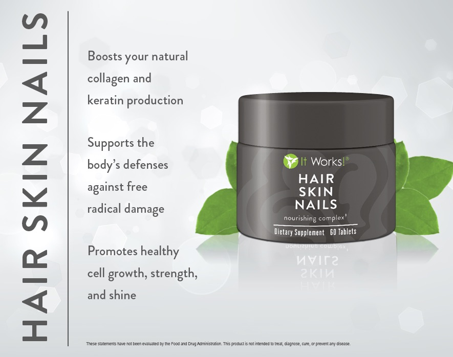 It Works Hair Skin Nails Supplement - WrapToned