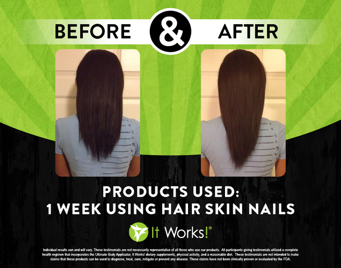 It Works Hair Skin Nails 1 Week Results